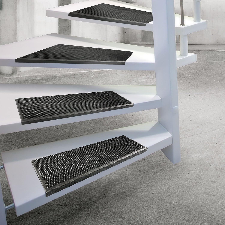 Cubre-peldaños de Casa Pura® , juego de 5 alfombras para escaleras, antideslizantes, 100% impermeables, máxima adherencia, de goma: Amazon.es: Electrónica