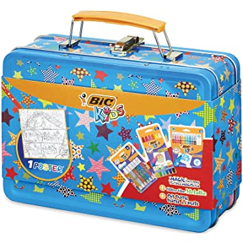 Bic Kids - Maletín de coloreado, pack mixto de 30 unidades