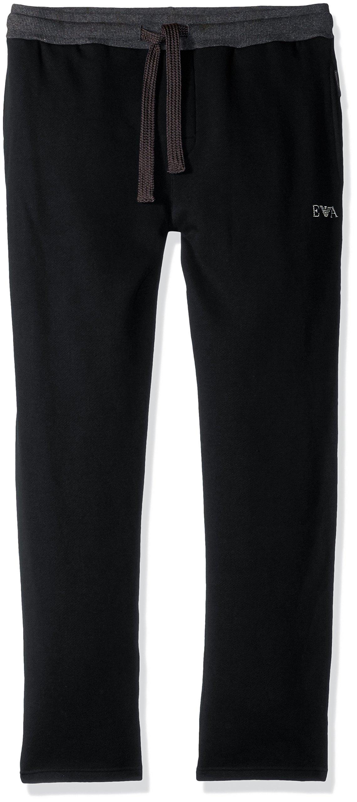 Emporio Armani Men's Soft Melange Terry Trousers, Black, L