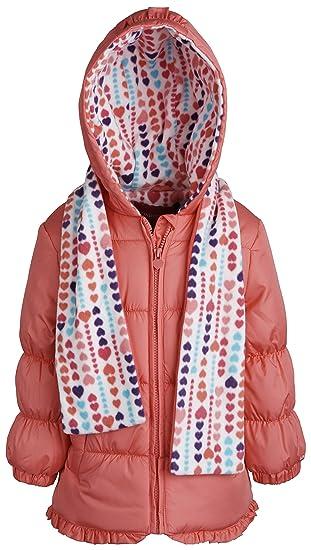 88b992d3d Amazon.com  London Fog Baby Girls Faux Down Warm Hooded Puffer ...