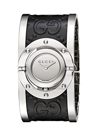 7748eb3e567 Image Unavailable. Image not available for. Color  Gucci  Twirl  Quartz Stainless  Steel Silver-Toned Women s Watch(Model  YA112441
