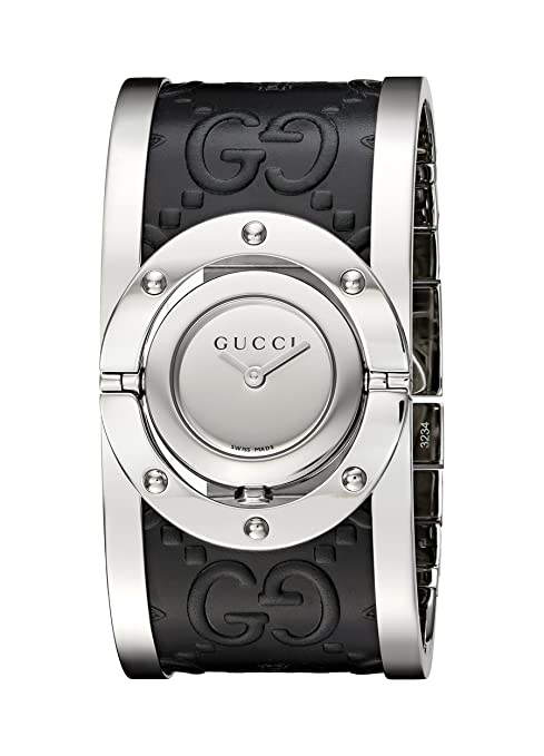 e54e5eb2083 Amazon.com  Gucci  Twirl  Quartz Stainless Steel Silver-Toned Women s Watch(Model   YA112441)  Watches