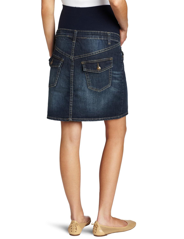 Ripe Maternity Womens Maternity Short Denim Skirt