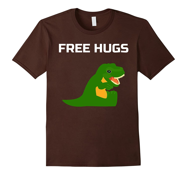 Free Hugs Funny T-Rex T Shirt-Teevkd