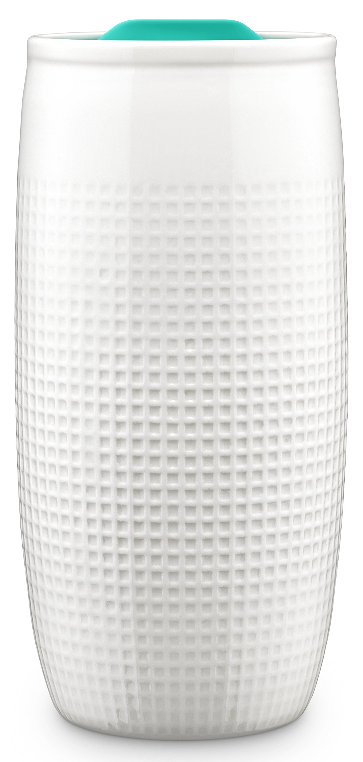 Ello Mesa 14-Ounce Double Wall BPA-Free Ceramic Tumbler with Lid, Teal 14 oz, Teal