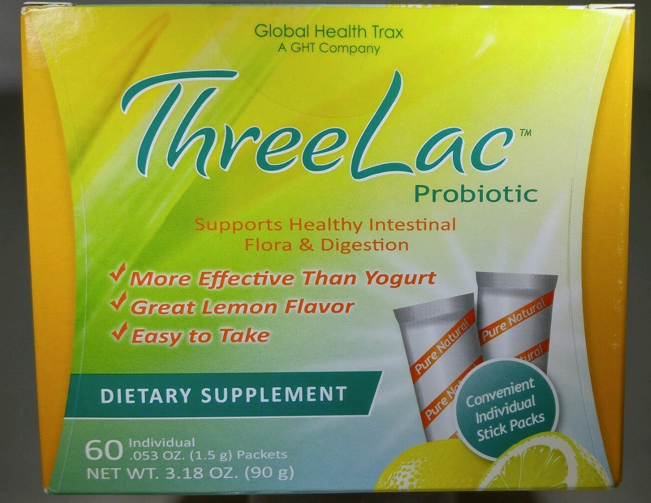 (4) ThreeLac Candida Probiotic Defense by Global Health Trax GHT