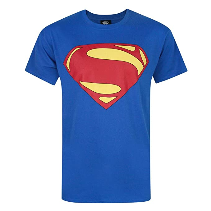 Superman - Camiseta con Logotipo de Man of Steel para Hombre.  Amazon.es   Ropa y accesorios f5b067bcdb2a8