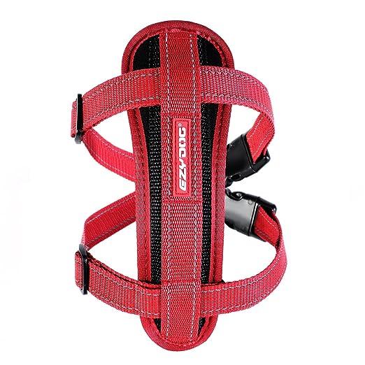 2 opinioni per EzyDog Classic petto piatto Harness, Extra Small, Rosso