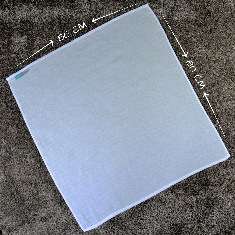 Spuckt/ücher Baumwollt/ücher Schadstoffgepr/üft kochfest bei 95/° C 10er Pack 80x80 cm wei/ß Mullwindeln Moltont/ücher Mullt/ücher /Öko-Tex Standard 100
