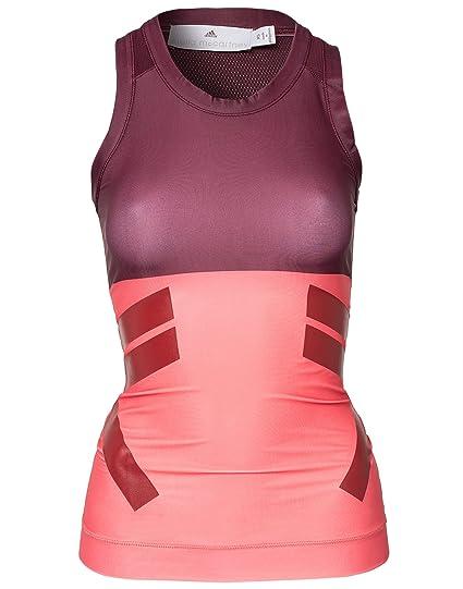 f97c594e77405 adidas Women's By Stella Mccartney Run Techfit Tank X-Small Pink/Maroon