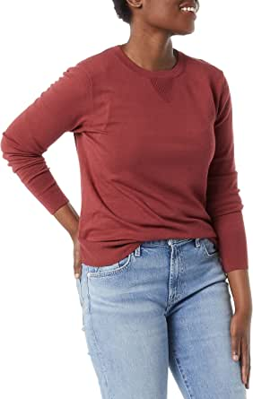Daily Ritual Amazon Brand Women's Fine Gauge Stretch Crewneck Pullover Sweater