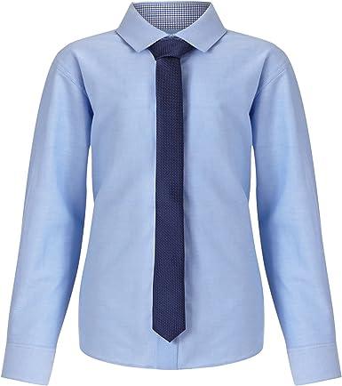 Rjr. John Rocha infantil – niño azul claro Oxford Camisa y ...