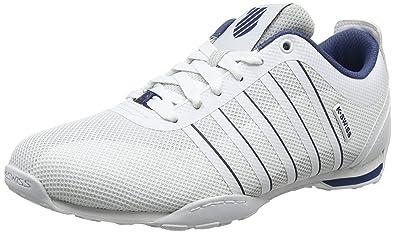 Herren Arvee 1.5 Tech Sneaker, Weiß (White/Ensign Blue/White), 41 EU K-Swiss