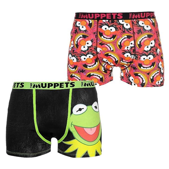 Character Hombre Paquete De 2 Calzoncillos Bóxer Muppets L Dj8NJJB7u