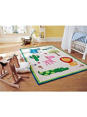 Amazon.de: Esprit Teppiche: Kinderzimmer Kinderteppich Zoo Beige ...