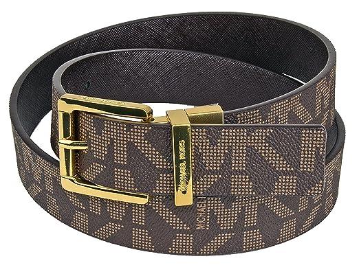 negozio online bc5c4 4a8a3 Michael Kors - Cintura - Donna marrone S: Amazon.it: Abbigliamento