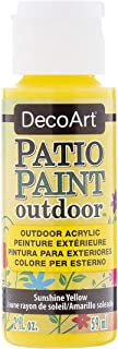 product image for DecoArt Patio Paint 2-Ounce Sunshine Yellow Acrylic Paint