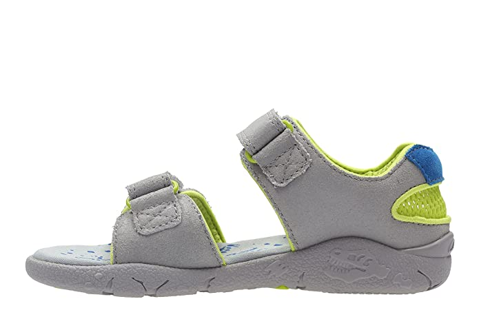 0230f3d714fc92 Clarks Tyrano Walk Inf Leather Sandals in Grey  Amazon.co.uk  Shoes   Bags