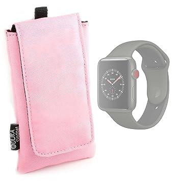 DURAGADGET Funda Acolchada Rosa para Smartwatch Apple Watch Series ...