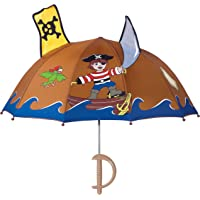 Kidorable Pirate Umbrella for Boys w/Fun Sword Handle, Pop-Out Skull and Crossbones and Sword