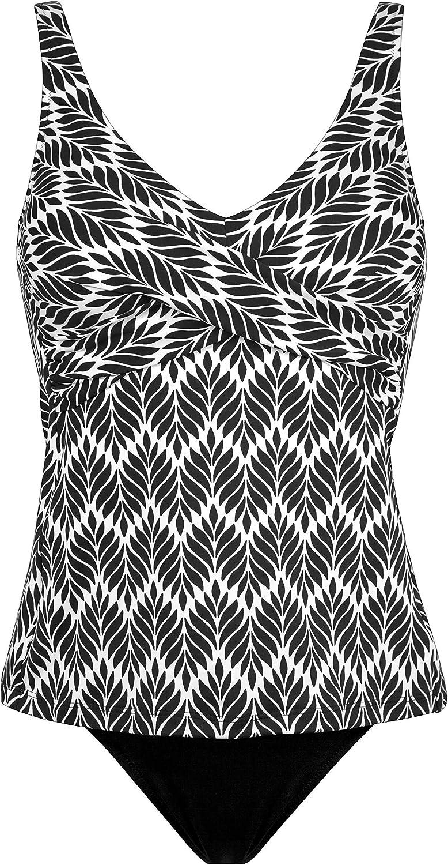 Charmline Costume da Bagno Tankini per Donna MOD.7940 Dis 569 White-Black 849 col