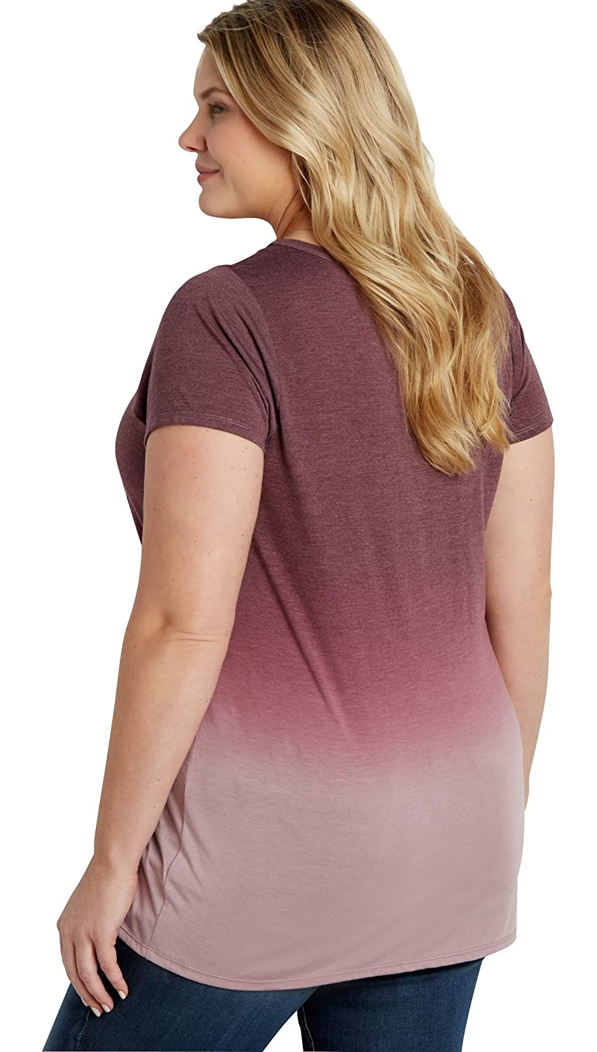 Maurices Women's Plus Size Ombre Tee With Rock N' Roll In My Soul Graphic