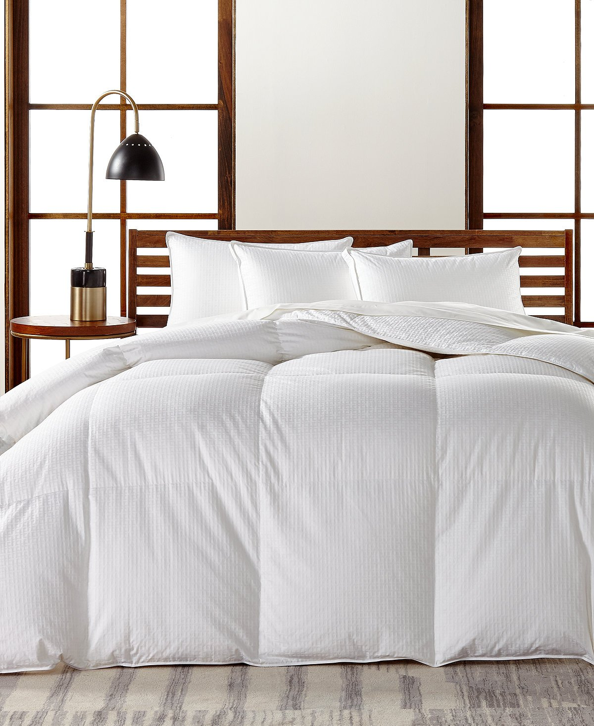 Hotel Collection European White Goose Down Medium Weight King Comforter, Hypoallergenic UltraClean Down