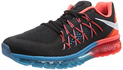 Nike Air Max 2015 Mens Running Shoes 698902 006 Black Bright Crimson Blue Lagoon White 9.5 M US