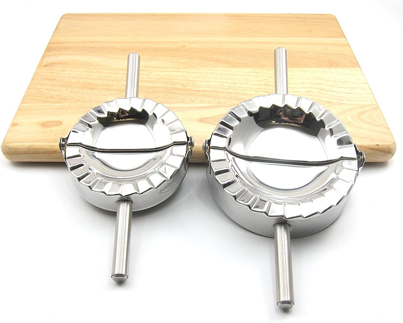 silber Kl/ö/ßchen edelstahl Geb/äck Beste K/üchenutensilien Form aus Edelstahl zur Herstellung von Ravioli M Piroggen Teigformer K/üchenzubeh/ör