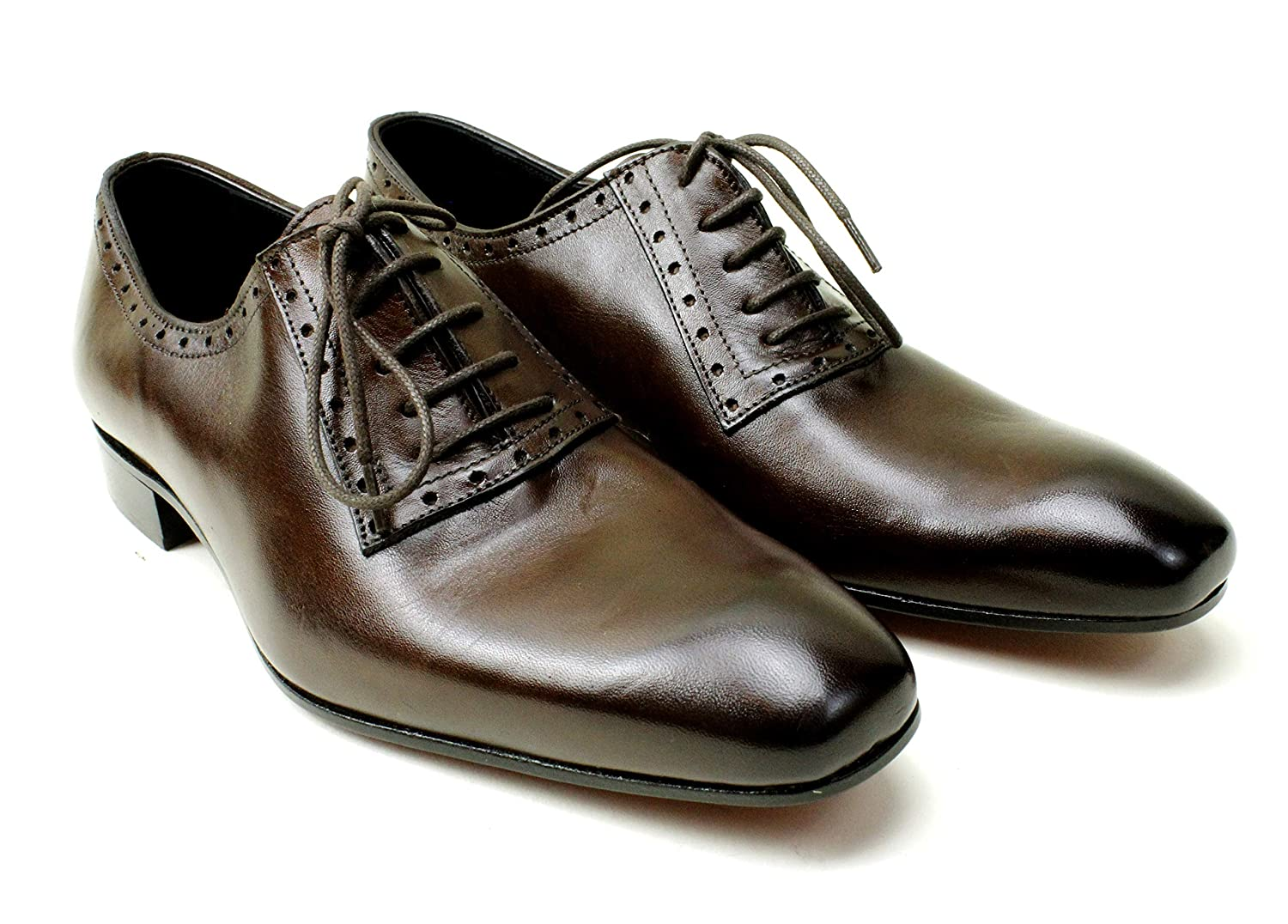 Ivan Troy Kids Laces Ryan Brown Handmade Italian Leather Dress Shoes//Oxford Shoes