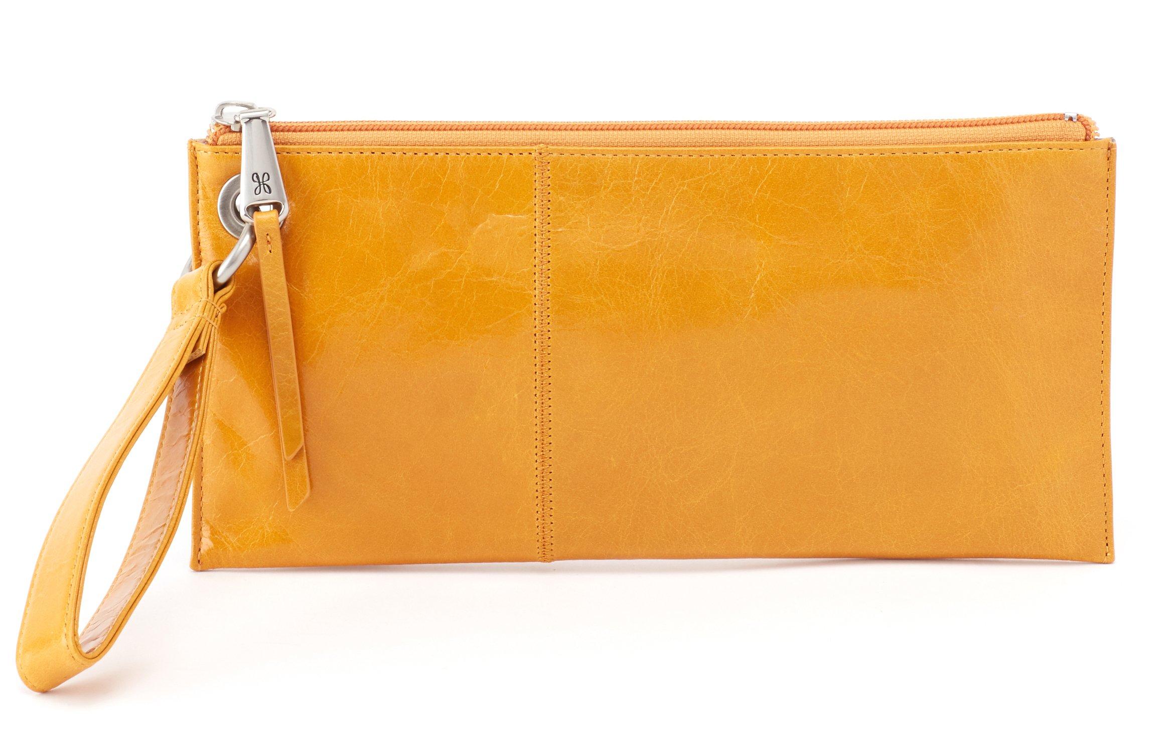 Hobo Womens Leather Vintage Vida Clutch Wallet (Amber)