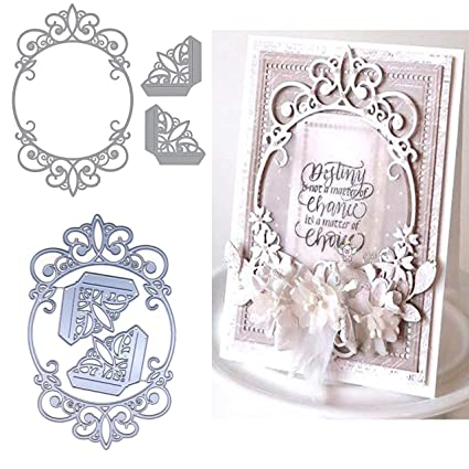 Love Thank Missing You Frame Metal Cutting Dies Scrapbooking Paper Cards Craft X