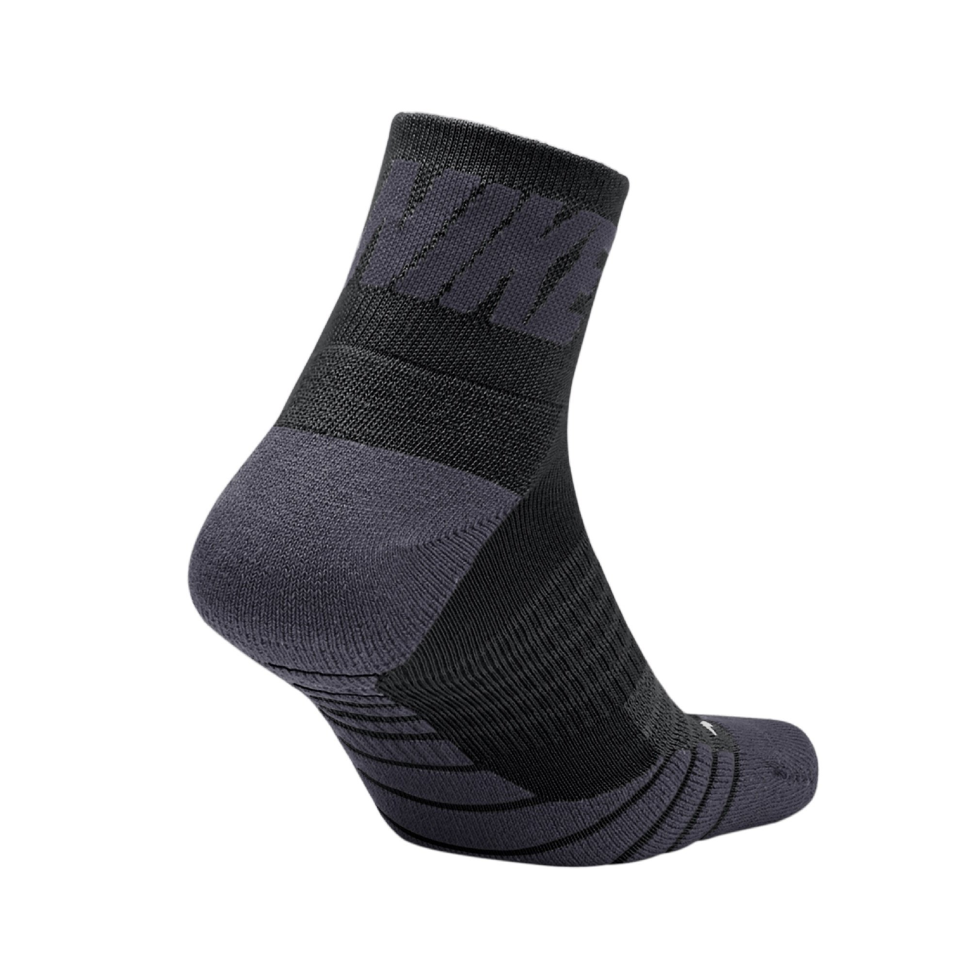 Nike Unisex Dry Cushioned Quarter High Golf Socks Black/Gray Large