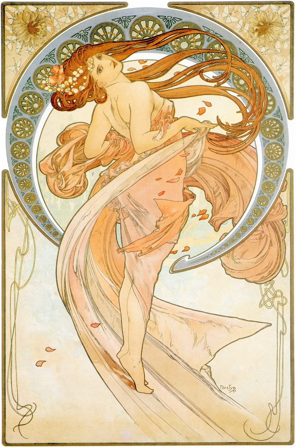 Alphonse Mucha Art Nouveau Vintage Poster Picture Print Wall Art New