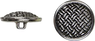 product image for C&C Metal Products 5037 Weave Metal Button, Size 45 Ligne, Antique Nickel, 36-Pack