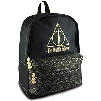 Official Harry Potter Black Deathly Hallows Backpack School Bag