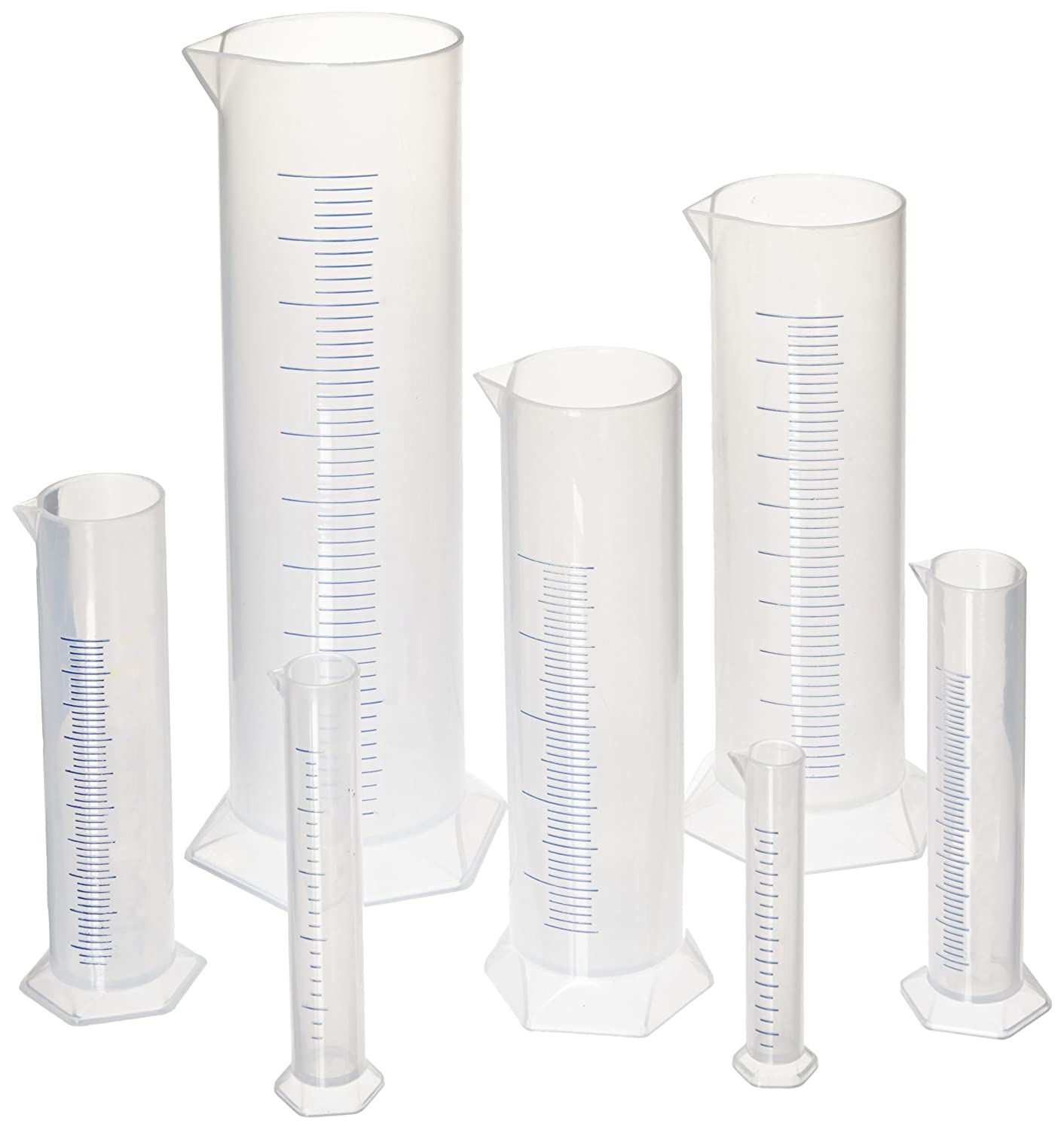Graduated Measuring Cylinders, Set of 7