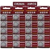 Batteria CR2025 al litio 3V, pulsante a bottone elettronico per calcolatrici giocattoli (20 pezzi)