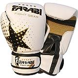 Farabi Kinder-Boxhandschuhe, MMA, Muay Thai, Junior-Boxsack-Handschuhe, rosa, 113 g