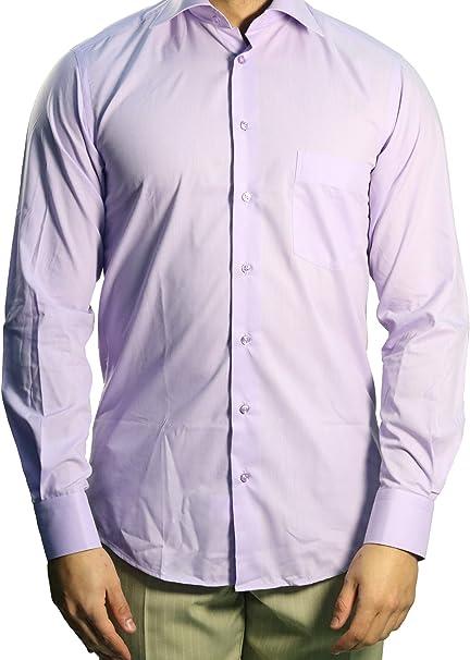 Muga combinado Puños Camisa de hombre, color lila claro ...