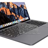 """Kuzy - Premium Ultra Thin Keyboard Cover Protector for Newest MacBook Pro with Touch Bar 13"""" or 15"""" (A1989 A1990 & A1706 A1707) Release 2018 2017 2016 TPU Skin - Clear"""