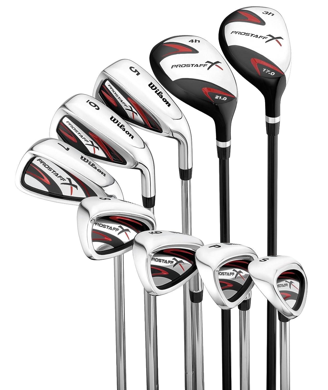 WILSON ProStaff X - Juego de 9 Palos de Golf para Hombre ...