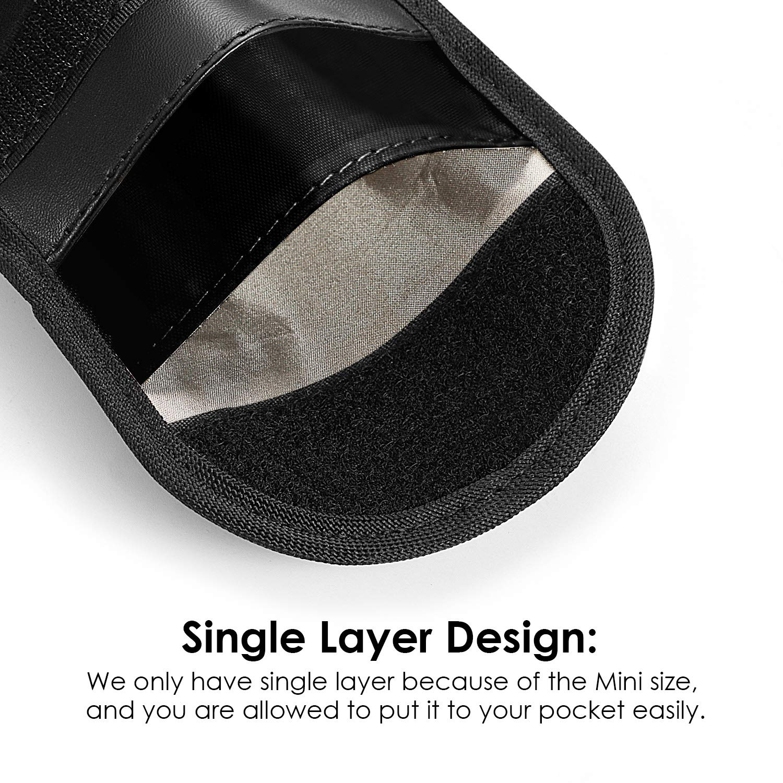 Car Key Signal Blocker Case ZTXPRO Faraday Pouch for Blocking Keyless Entry Fob Guard Anti-Theft RFID//NFC Blocking PU Leather Pocket Size Black 2 Pack