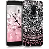 kwmobile Crystal TPU Silicone Case for Alcatel IDOL 4S in Design Indian sun light pink white transparent