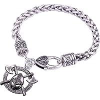 Fishhook Viking - Casco de doble eje con 24 amuletos y brazalete triquetra talismán