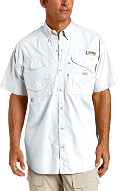 Columbia Mens Bonehead Short-Sleeve Work Shirt