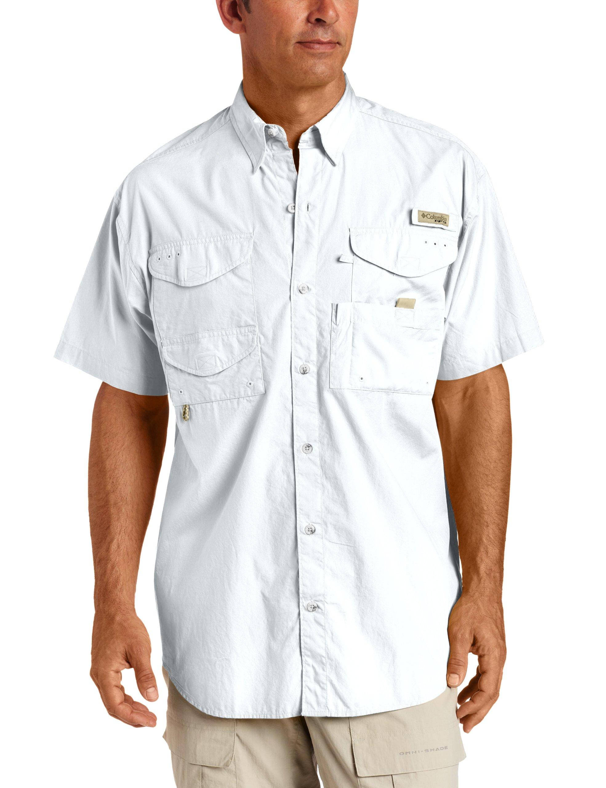 Columbia Men's Pfg Bonehead Long Sleeve Shirt,  White,  X-Small
