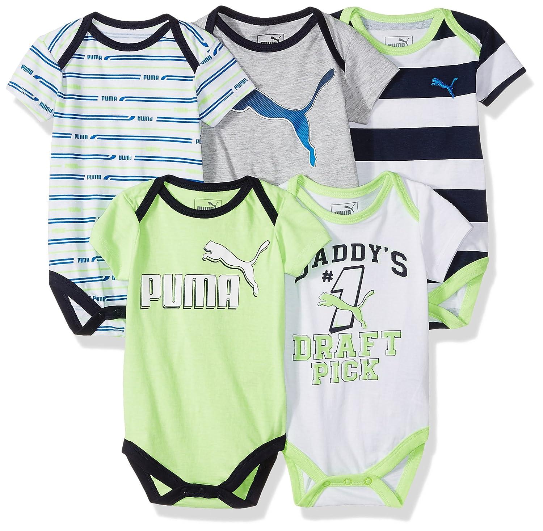 6e0efc9243f92 PUMA Baby Boys' Five Pack Bodysuit Set