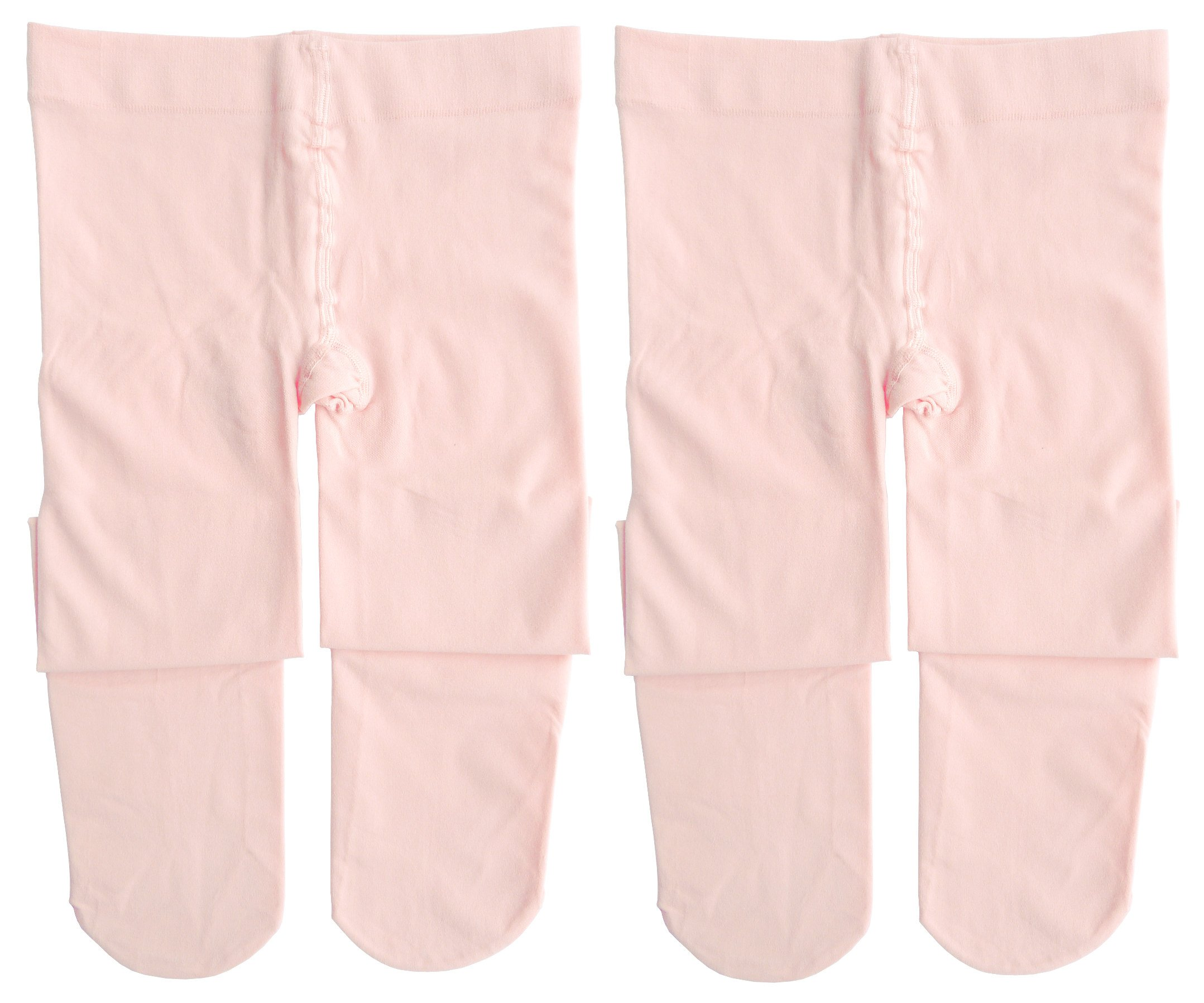 Dancina Tights for Girls S (3-5) Ballet Pink x2