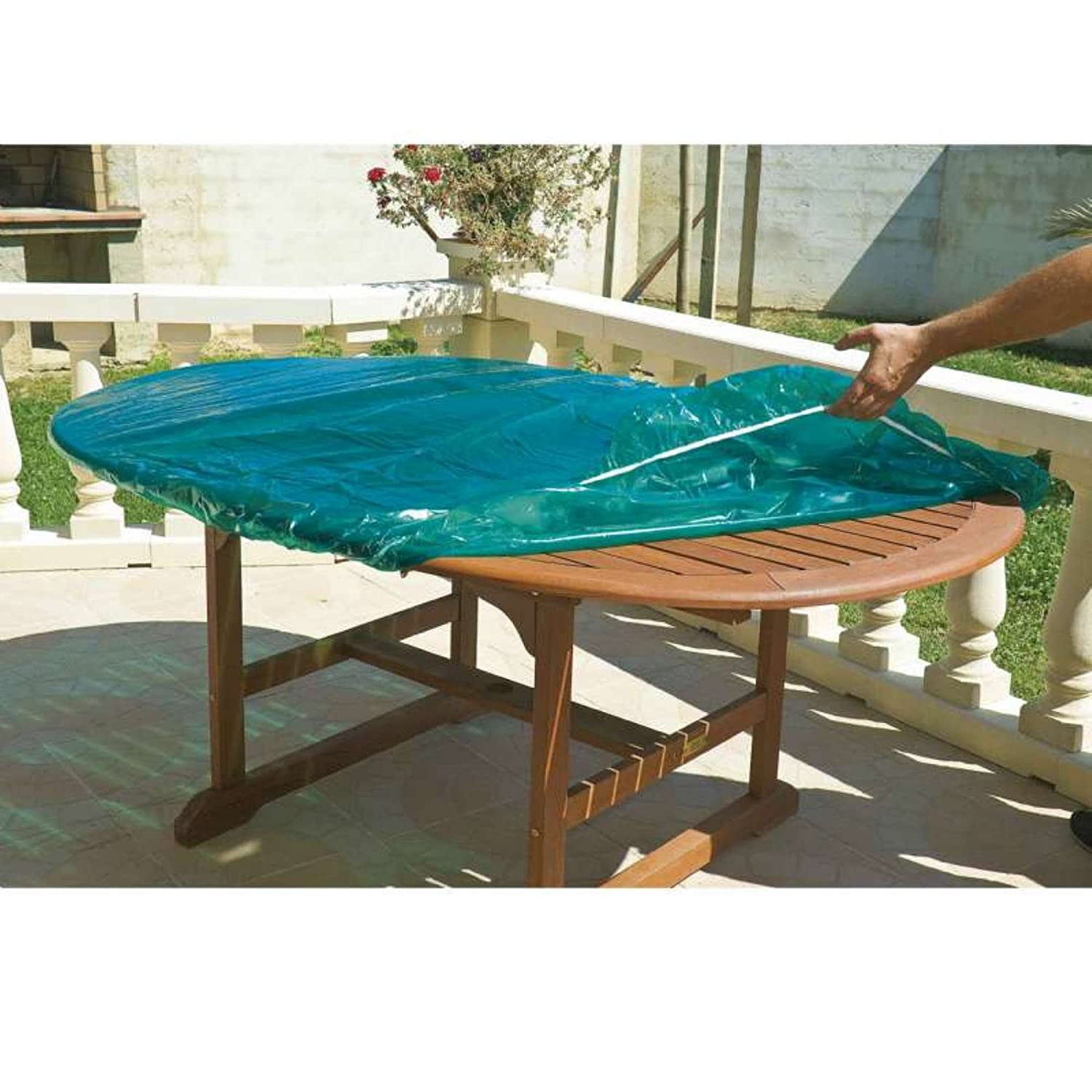 Maillessac 04808 Housse Luxe pour Table Ronde Vert 120 cm